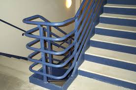 Stairs, Terrific Metal Stair Rails Indoor Stair Railing Kits Blue Metal  Stair Rails: astounding