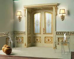 v with tqr re sole new lowered arch doorway and panelling on the wall and frame with quilted