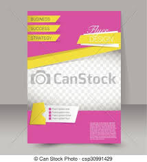 Editable Flyer Template Flyer Template Business Brochure Editable A4 Poster For Design Education Presentation Website Magazine Cover Pink And Yellow Color