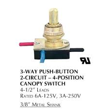3 way lamp switch not working properly