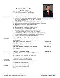 Sample Real Estate Resu Resume Of Real Estate Agent Amazing Resume