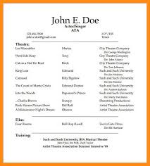 11 12 Performing Arts Resume Samples Elainegalindo Com