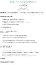 Early Childhood Specialist Resume Sales Architect Resume Education ...
