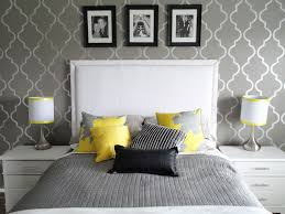 Affordable Grey Bedroom With Red Accent Wall