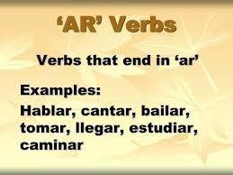 Cantar Conjugation Chart Ppt Ar Verbs Powerpoint Presentation Free Download Id