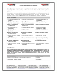 Best Resume Format For Electrical Engineers Free Download Pdf And