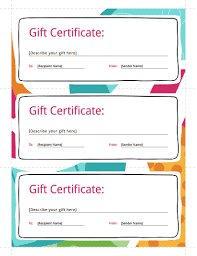 Make Your Own Gift Certificate Free Printable Gift Certificate Template Free Download Create Fill