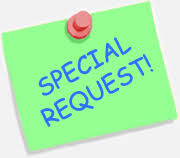 Image result for special request