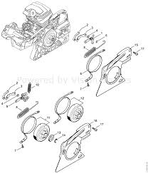 Stihl ms 251 chainsaw ms251 cbe 2 mix parts diagram chain brake