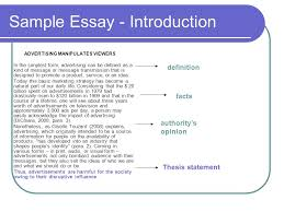 argumentative essay ppt 5 sample essay introduction advertising