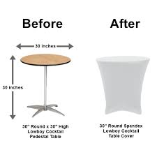 30 round 30 high low cocktail table al