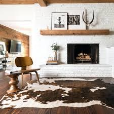 faux cowhide rug fake ikea black and white