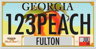 Georgia License Plates Designs Polls Close For Georgias License Plate Design Contest