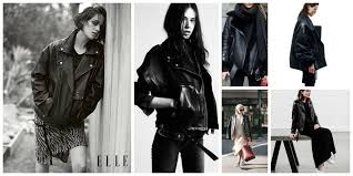 trend oversized leather jacket