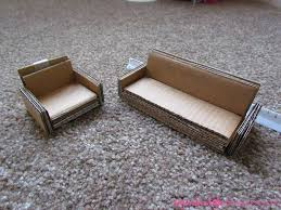 diy dollhouse furniture. diy cardboard doll sofas cover them in decorative duct tape and theyu0027ll look adorable dollhouse furniture t