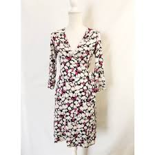 Dvf Vintage Floral Wrap Dress 8