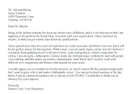 Sales Resume Cover Letters Retail Sales Cover Letter Samples Sales