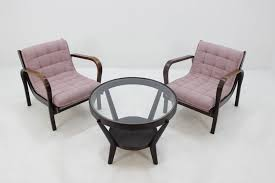 lounge chairs coffee table set by a kropáček and k koželka for interier praha 1960s