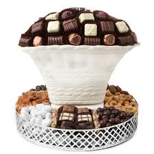 oval chocolate vase with chocolate and nuts non dairy kosher gift basket chocolate mold gift baskets gift baskets by type oh nuts