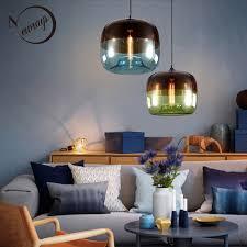 Modern Nordic <b>Art</b> Deco <b>Colorful</b> Hanging Glass <b>Pendant</b> Lamp ...