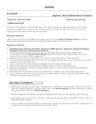 Wastewater Plant Operator Resume Professional Resume Templates