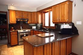 great granite countertops with oak cabinets ideas
