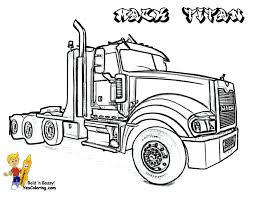 This fun set of truck coloring pages is the perfect activity for a truck themed birthday party! Big Rig Truck Coloring Pages Free 18 Wheeler Boys Coloring Pages