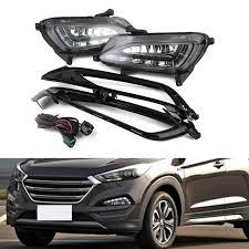 New White Day Light For Hyundai Tucson LED DRL Daytime Running  Driving Lamp 2015-