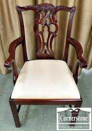 6559 1 Set of 8 Maitland Smith Mahogany Chippendale Dining Chairs