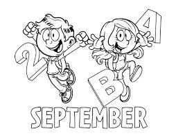 Small Picture September coloring page Coloringcrewcom