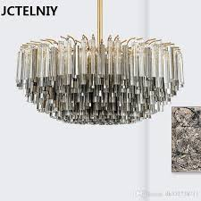 new deluxe crystal rod led chandelier postmodern personality design nordic style living room exhibition hall fashion lamp crystal chandelier led chandelier