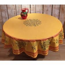 frenchictoyou le tissu provencal round tablecloth cotton yellow inside extraordinary 70 inch round tablecloth your residence