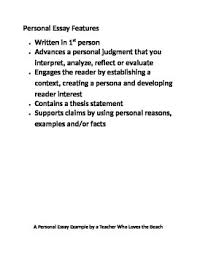 list the features of essay different types of essays samples   themes this i believe this week s essay