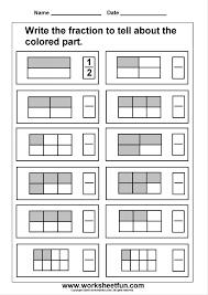 Kindergarten Printable Worksheets On Fractions Worksheets For All ...