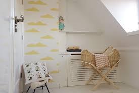Behang Babykamer Wit Modern Hous Kinderkamer Grijs En Roze