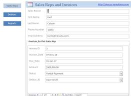 Schedule Of Accounts Receivable Template Microsoft Access Templates Small Business Accounts