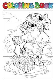 Free Pirate Treasure Chest Coloring Page