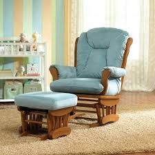 wooden rocking chair for nursery. Fantastic Nursery Chair And Ottoman Custom Fabric Wooden Glider Baby Rocker Rocking With For