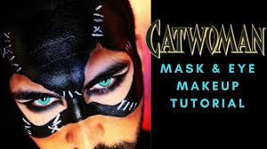 catwoman mask eye makeup tutorial