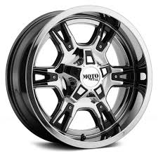 moto rims and tires. metal® - mo969 chrome with black and red accents close-upmoto close-up · custom wheels moto rims tires