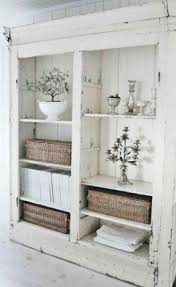 Shabby chic white bookcase
