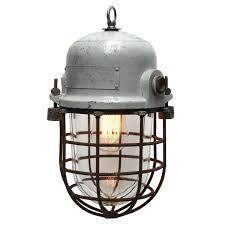gray vintage european cage light 1