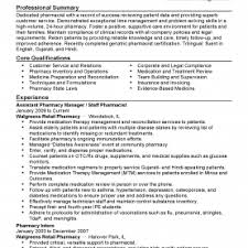 Ultimate Sample Resume Pharmacist Manager Also Pharmacy Ma Rs Geer