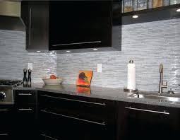 Espresso Cabinet Backsplash Best Kitchen Glass Tile Dark Cabinets