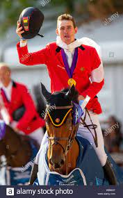 Rotterdam. Netherlands. 23 August 2019. Team Gold Medal. Jos Verlooy (BEL)  in the Team Final. Lap of Honour. Showjumping. Longines FEI European  Championships. Credit Elli Birch/SIP photo agency/Alamy live news Stock  Photo -