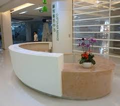 name commercial furniture reception desk and office furniture material solid surface quartz gel coat translucent resin panel plywood etc make