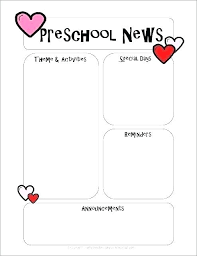 Teachers Newsletter Templates Kindergarten Weekly Newsletter Template Lapos Co