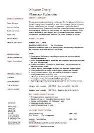 Dental Technician Cv Pharmacy Technician Resume Medicine Sample Example