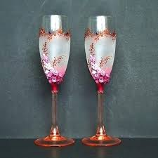 wine glass decorating ideas decorated champagne glasses for wedding on plastic wine glass decorating ideas