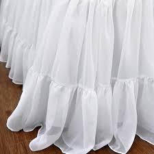 dust ruffles bed skirts.  Skirts Chiffon Ruffle Bed Skirt Inside Dust Ruffles Skirts B